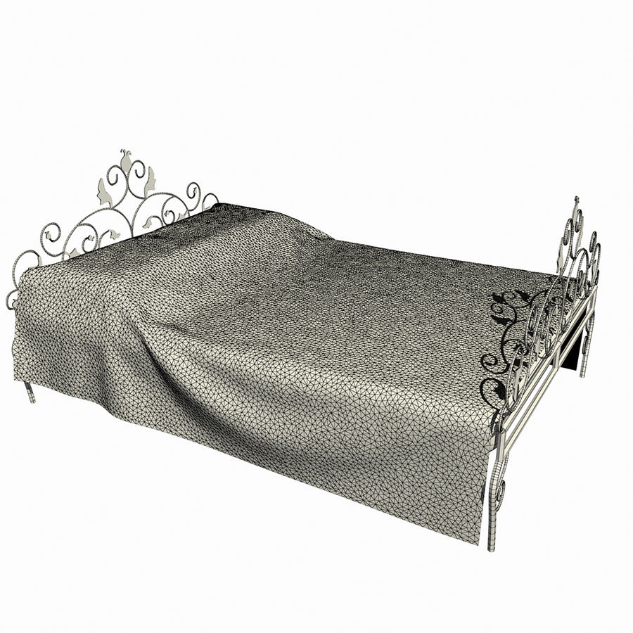 Forged Bed 1v royalty-free 3d model - Preview no. 10