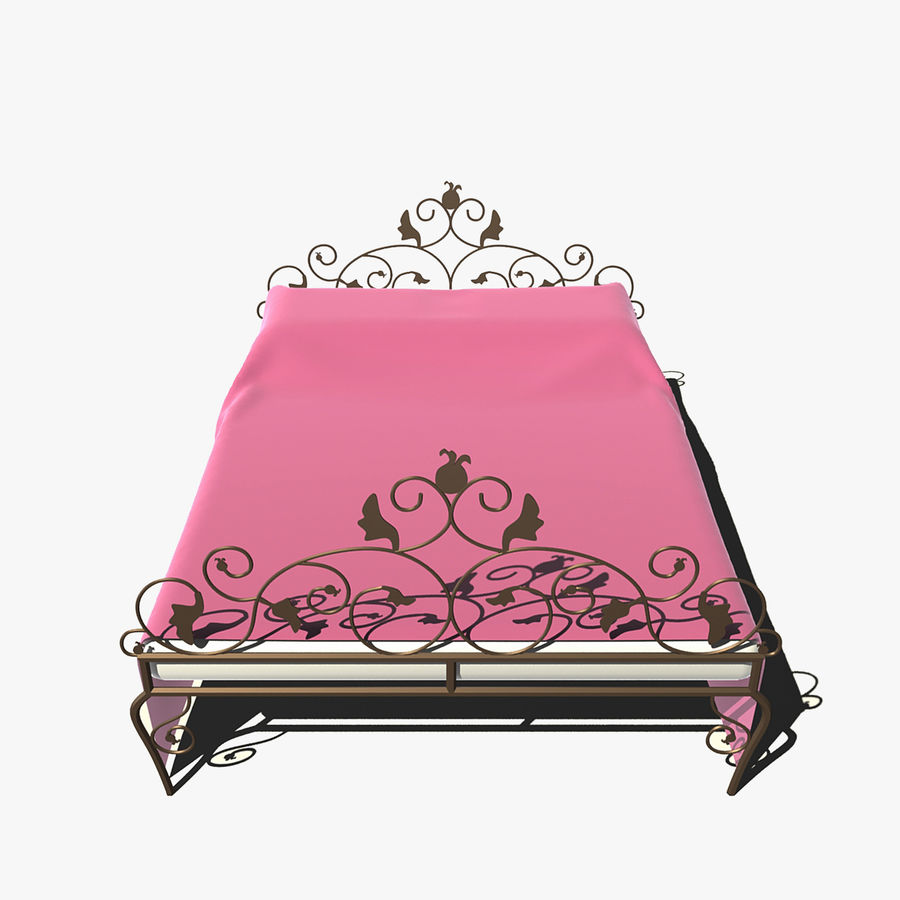Forged Bed 1v royalty-free 3d model - Preview no. 6