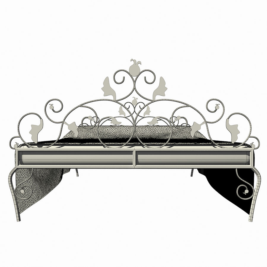 Forged Bed 1v royalty-free 3d model - Preview no. 12
