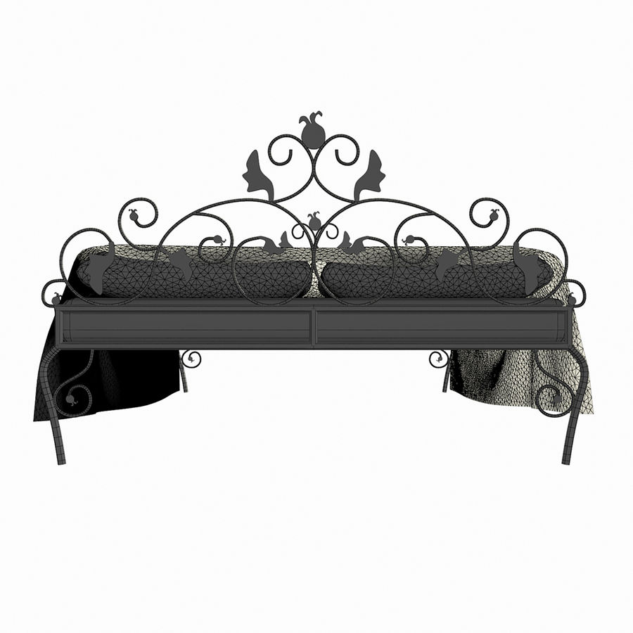 Forged Bed 1v royalty-free 3d model - Preview no. 8