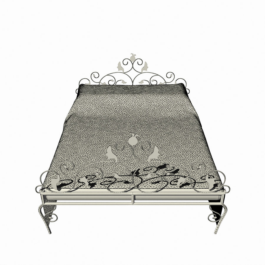 Forged Bed 1v royalty-free 3d model - Preview no. 13