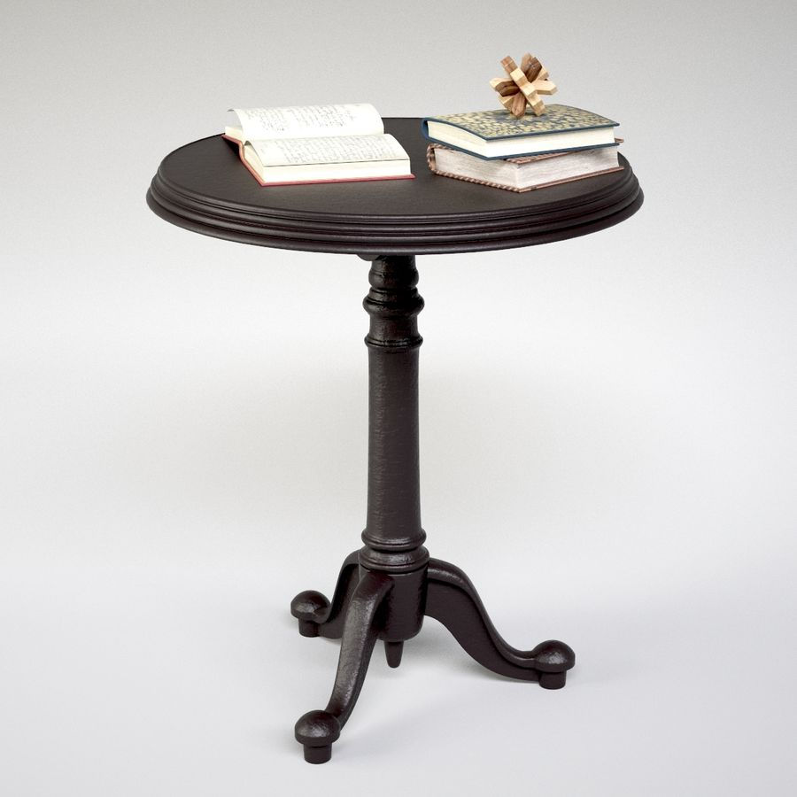 18th C French Brasserie Table Book Decor 3d Model 6 Unknown