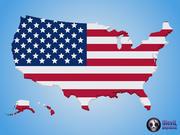 Textura de bandera de mapa de Estados Unidos modelo 3d