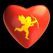 Corazón de cupido modelo 3d