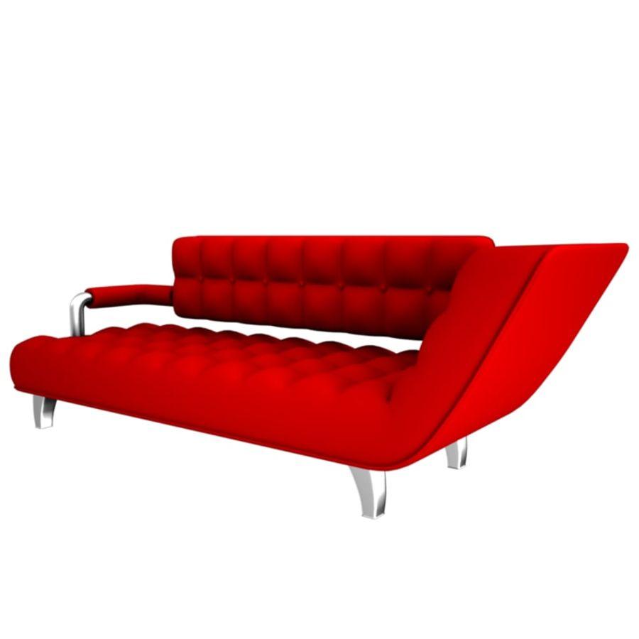 valentin soffa royalty-free 3d model - Preview no. 2