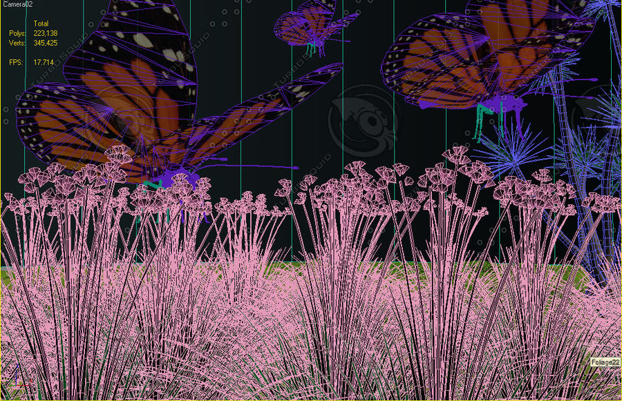 La farfalla royalty-free 3d model - Preview no. 2