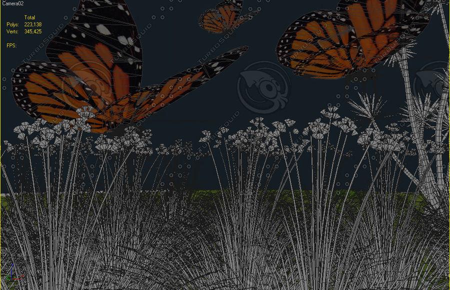 La farfalla royalty-free 3d model - Preview no. 1