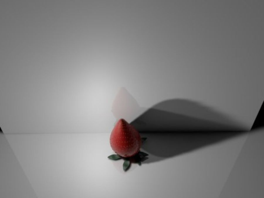fragole selvatiche royalty-free 3d model - Preview no. 1