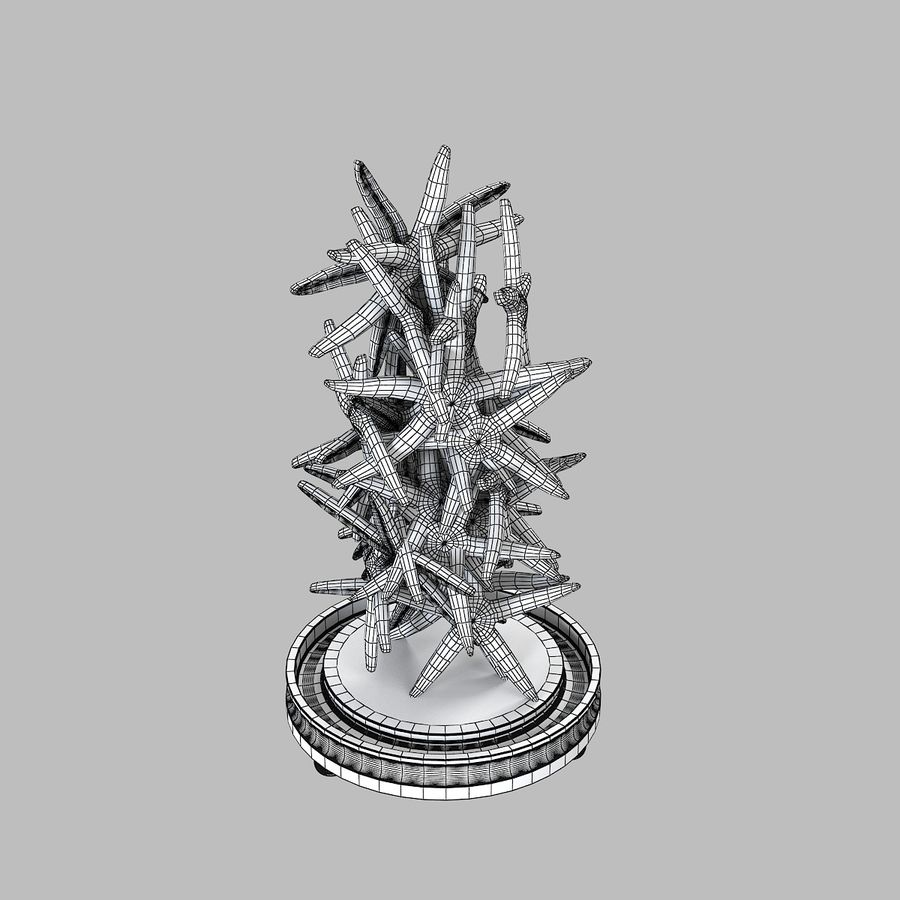 Sea Star Decoration royalty-free 3d model - Preview no. 5