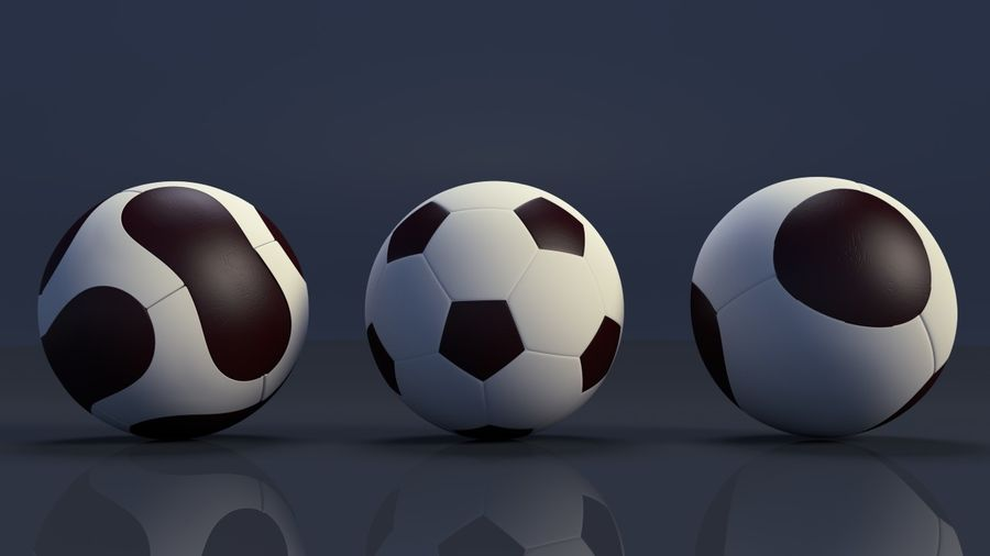 Soccer Balls royalty-free 3d model - Preview no. 1