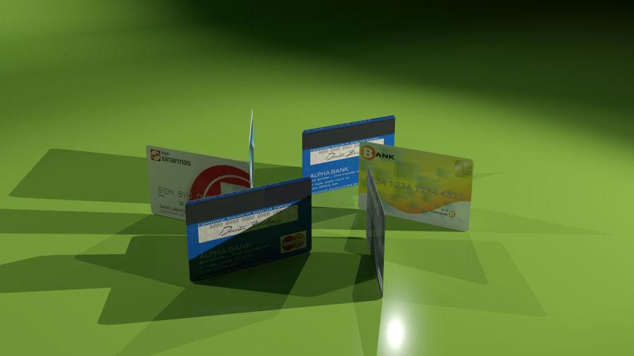 kredietkaart royalty-free 3d model - Preview no. 10