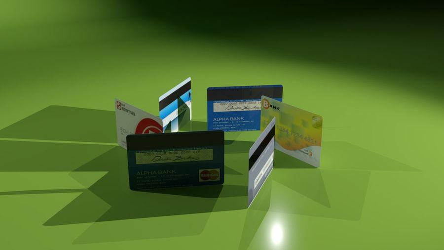 kredietkaart royalty-free 3d model - Preview no. 11
