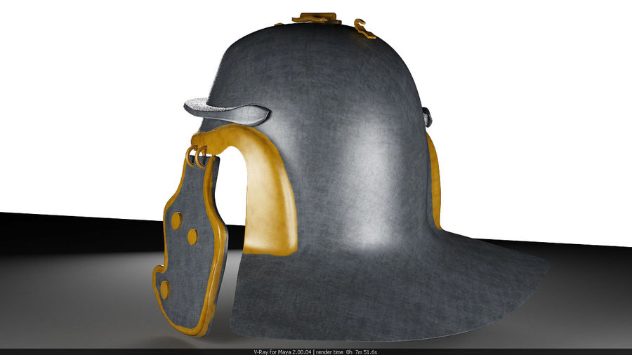 Helmat royalty-free 3d model - Preview no. 4