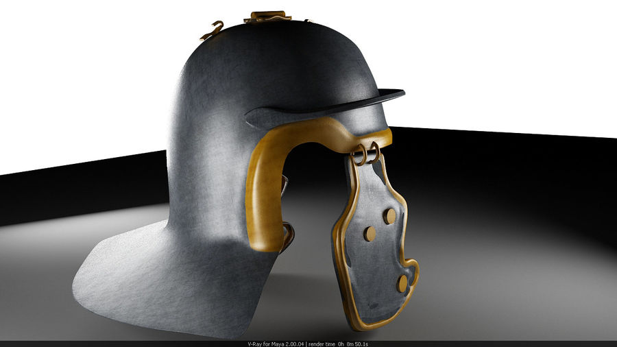 Helmat royalty-free 3d model - Preview no. 2