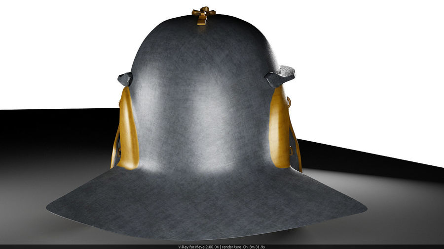 Helmat royalty-free 3d model - Preview no. 3
