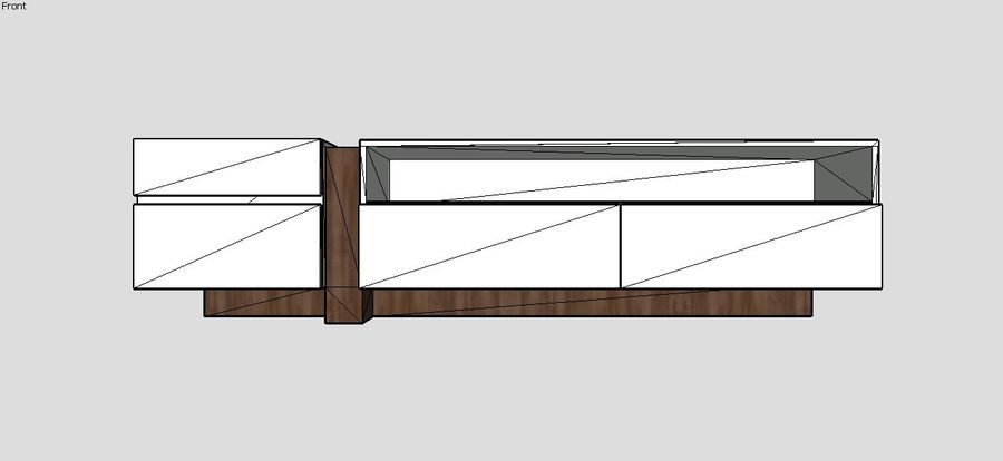 Design TV Cabinet royalty-free 3d model - Preview no. 3
