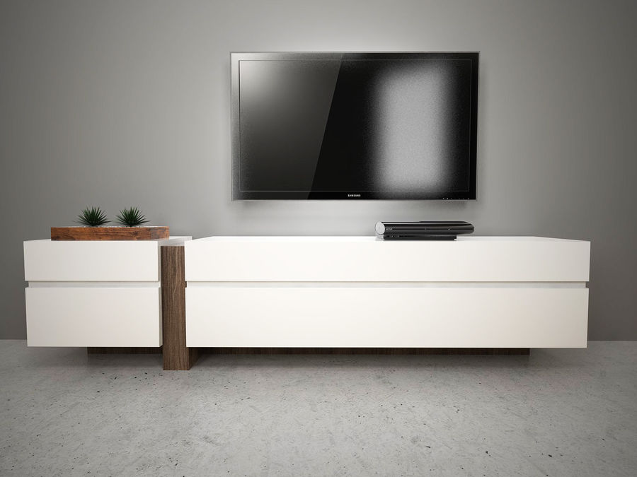 Design TV Cabinet royalty-free 3d model - Preview no. 1
