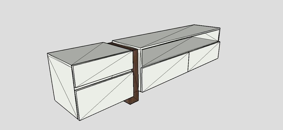Design TV Cabinet royalty-free 3d model - Preview no. 5