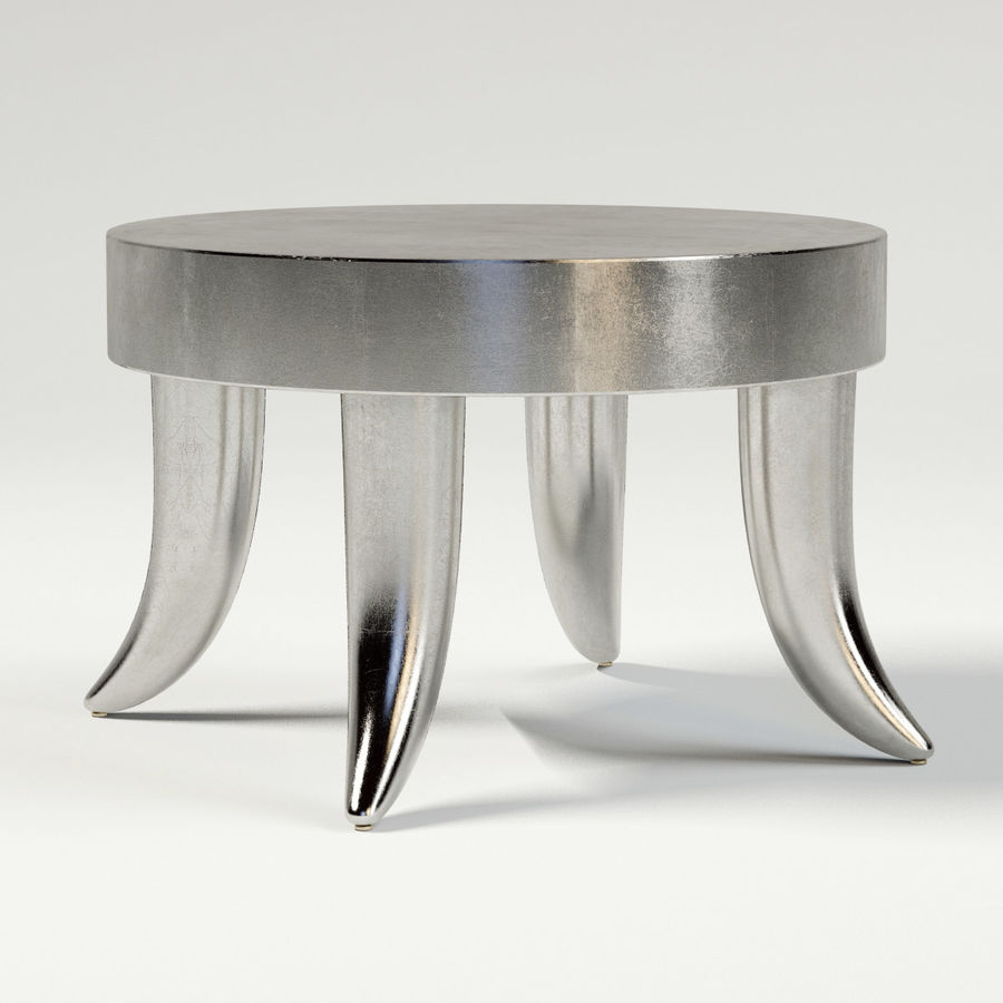 TUSK TABLE (ARGENTO) royalty-free 3d model - Preview no. 2