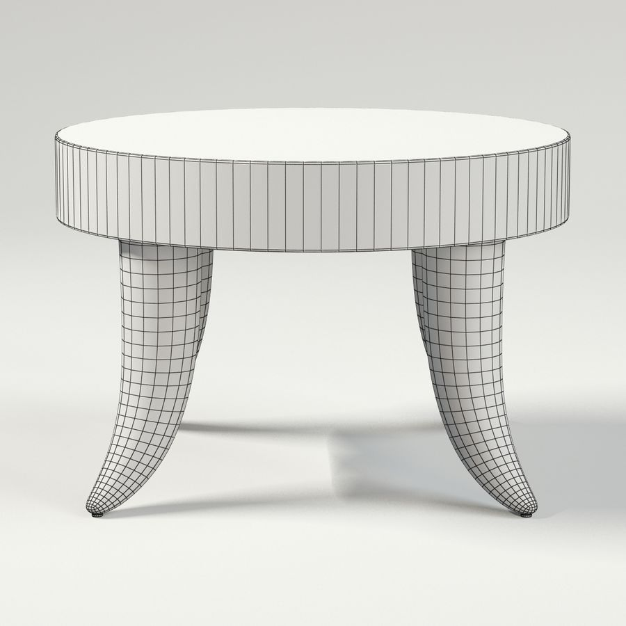 TUSK TABLE (ARGENTO) royalty-free 3d model - Preview no. 9