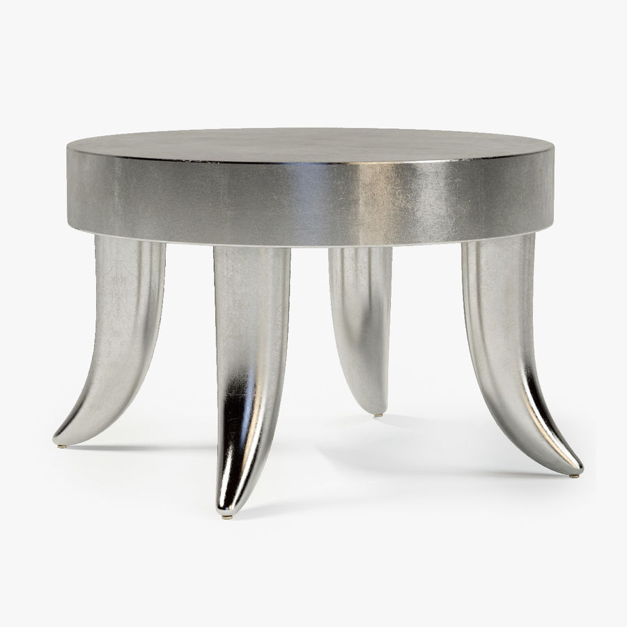 TUSK TABLE (ARGENTO) royalty-free 3d model - Preview no. 1