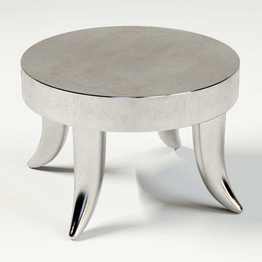 TUSK TABLE (ARGENTO) royalty-free 3d model - Preview no. 5