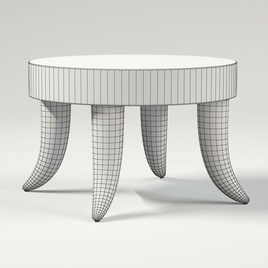 TUSK TABLE (ARGENTO) royalty-free 3d model - Preview no. 7