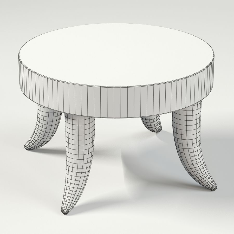 TUSK TABLE (ARGENTO) royalty-free 3d model - Preview no. 10