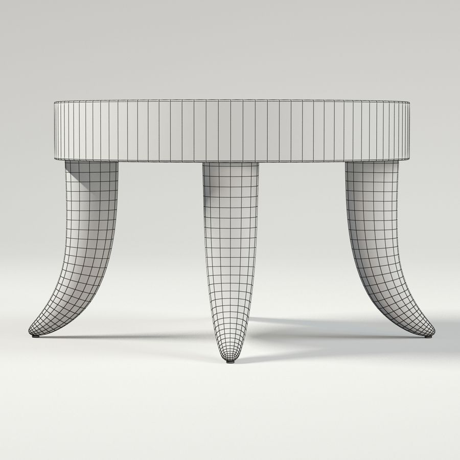 TUSK TABLE (ARGENTO) royalty-free 3d model - Preview no. 8