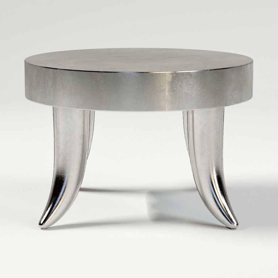 TUSK TABLE (ARGENTO) royalty-free 3d model - Preview no. 4