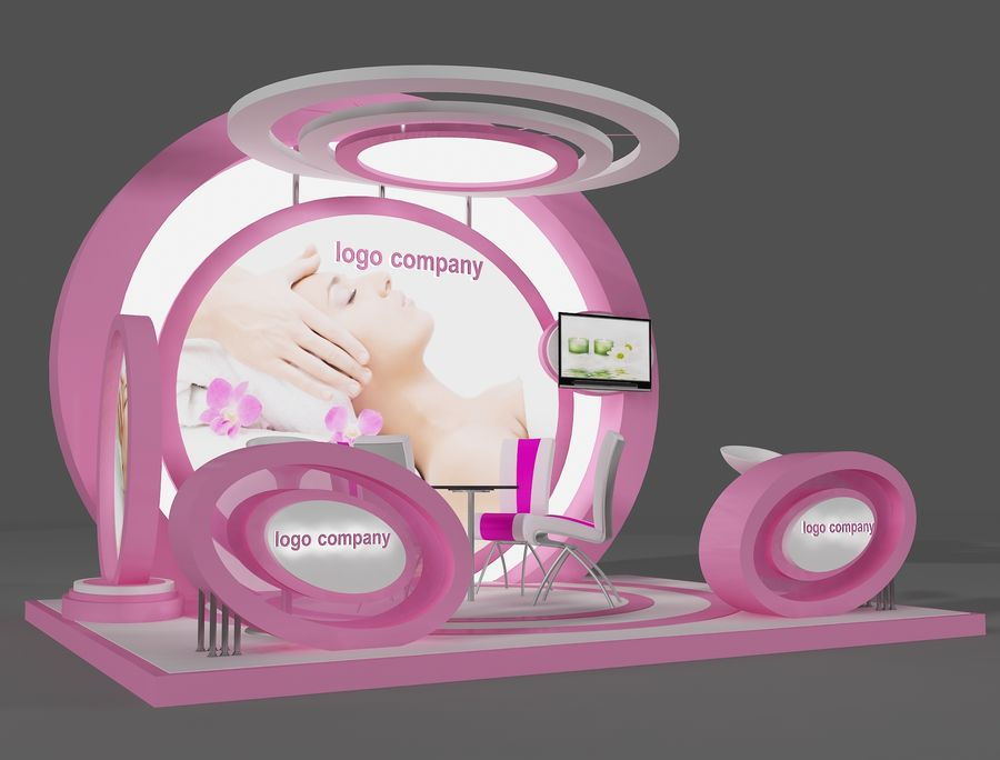 Booth Exhibition Stand(2) royalty-free 3d model - Preview no. 8
