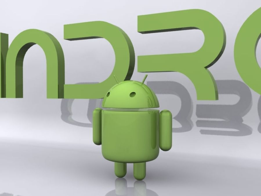 Android royalty-free 3d model - Preview no. 2