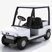 Cartoon-Golfwagen 3d model