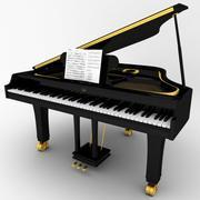 рояль 3d model