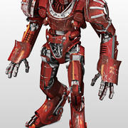 Big Red Robot 3d model