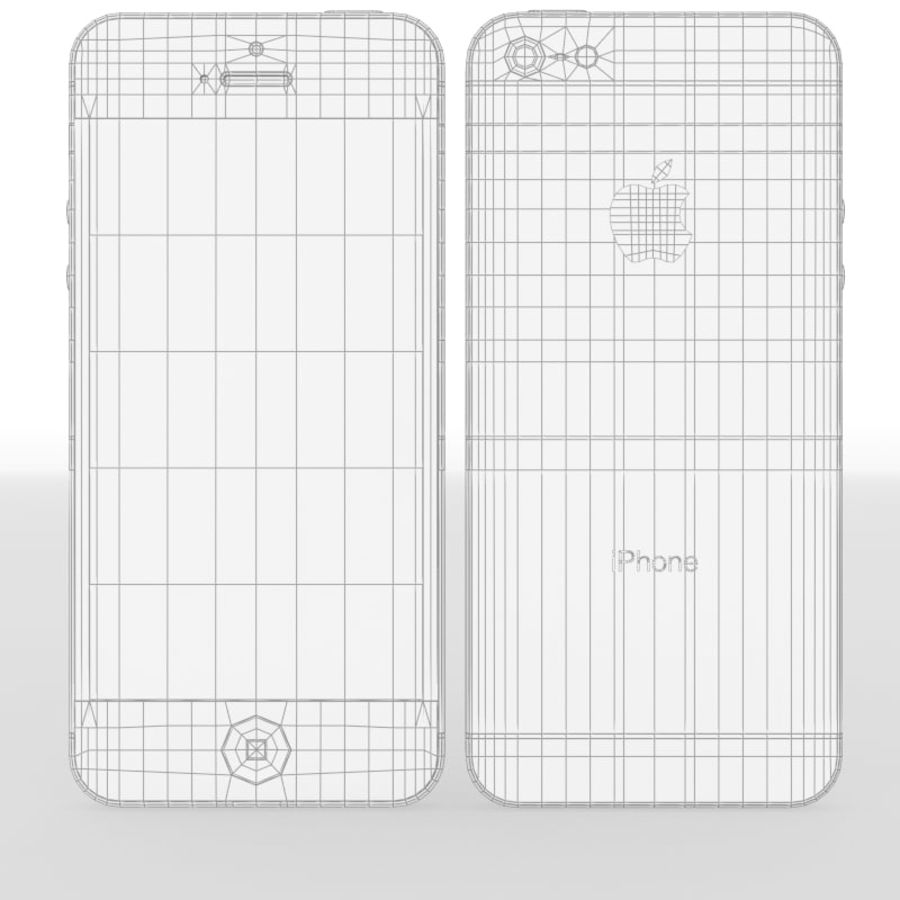 Smartfon Apple iPhone 5 royalty-free 3d model - Preview no. 21