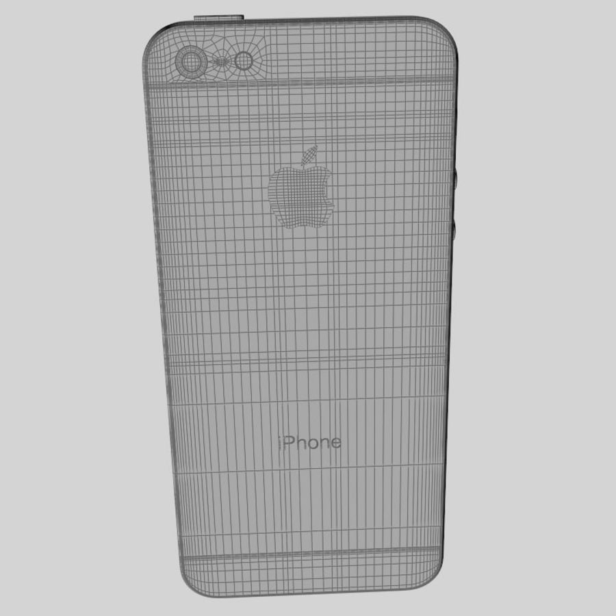 Smartfon Apple iPhone 5 royalty-free 3d model - Preview no. 20