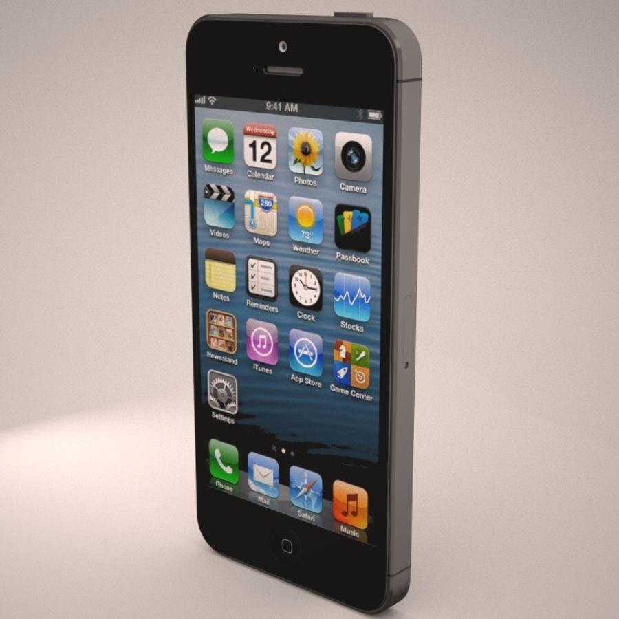 苹果iPhone 5智能手机 royalty-free 3d model - Preview no. 6