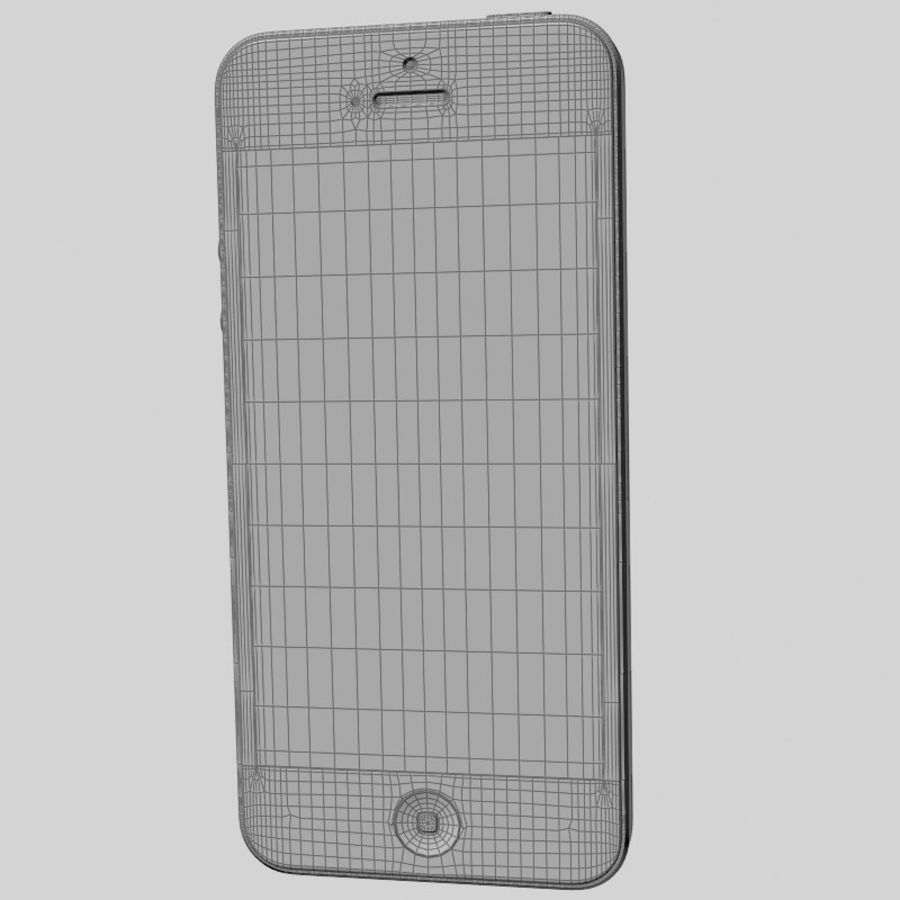 Smartfon Apple iPhone 5 royalty-free 3d model - Preview no. 19