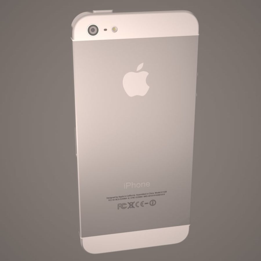 Smartfon Apple iPhone 5 royalty-free 3d model - Preview no. 12
