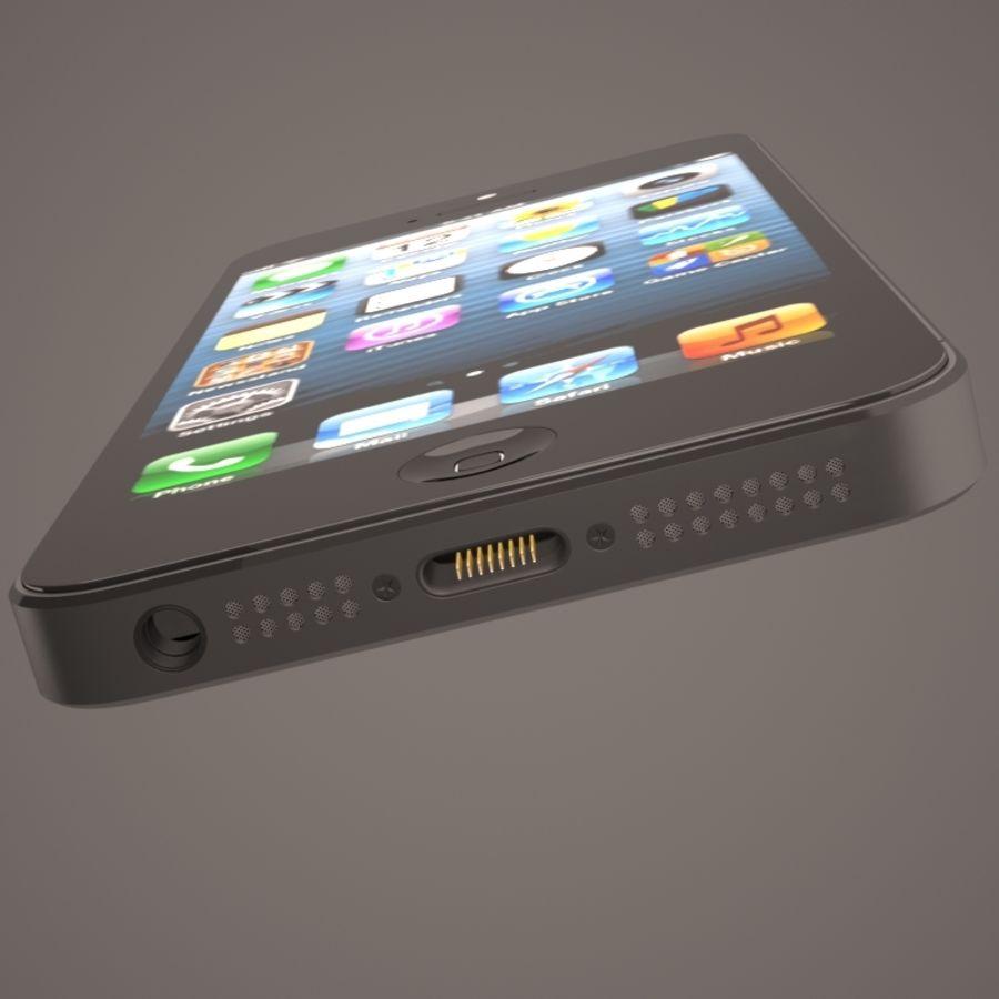 苹果iPhone 5智能手机 royalty-free 3d model - Preview no. 11