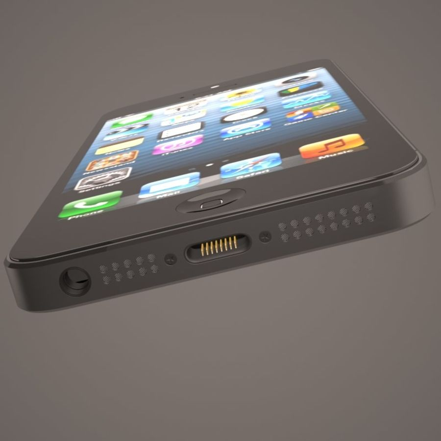 Smartfon Apple iPhone 5 royalty-free 3d model - Preview no. 11