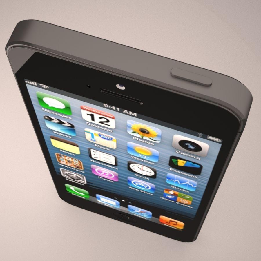 苹果iPhone 5智能手机 royalty-free 3d model - Preview no. 8