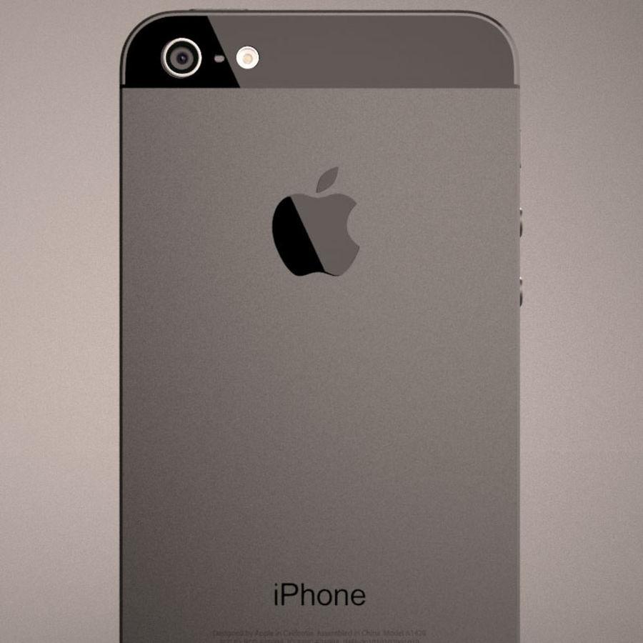 苹果iPhone 5智能手机 royalty-free 3d model - Preview no. 10