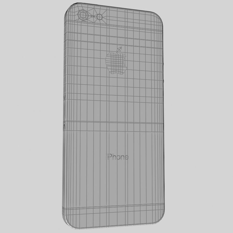 Smartfon Apple iPhone 5 royalty-free 3d model - Preview no. 15