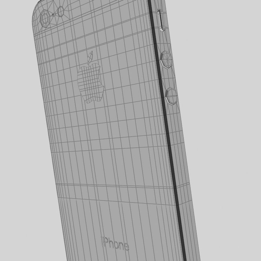 Smartfon Apple iPhone 5 royalty-free 3d model - Preview no. 17