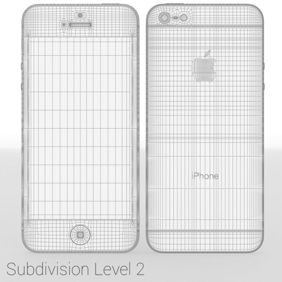 Smartfon Apple iPhone 5 royalty-free 3d model - Preview no. 22