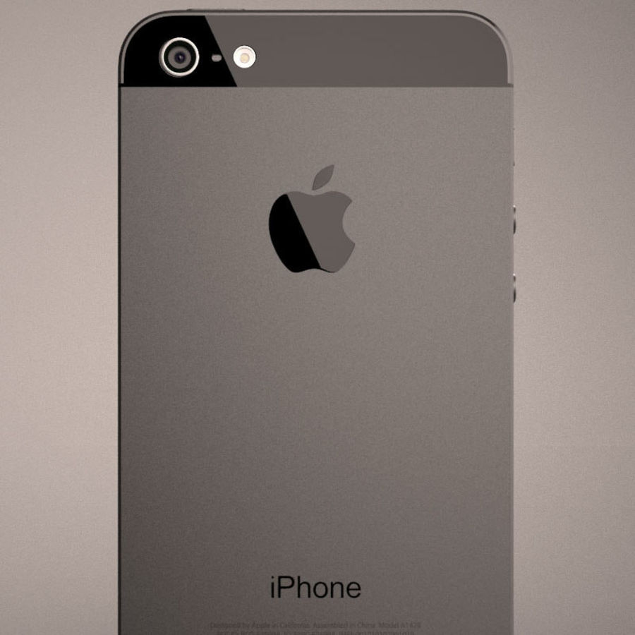 Smartfon Apple iPhone 5 royalty-free 3d model - Preview no. 10