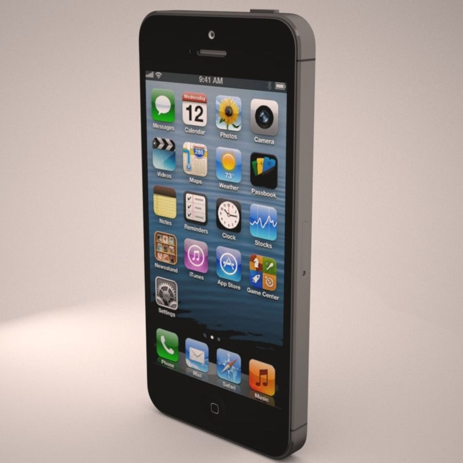 Smartfon Apple iPhone 5 royalty-free 3d model - Preview no. 6