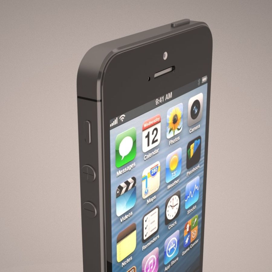 Smartfon Apple iPhone 5 royalty-free 3d model - Preview no. 9
